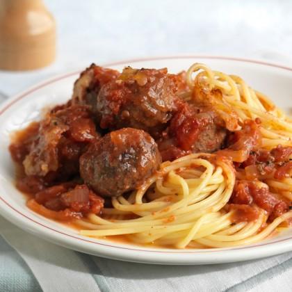 (加热即食装)番茄酱肉球意大利面 Spaghetti Tomato with Meatball (Reheat Ready Pack)